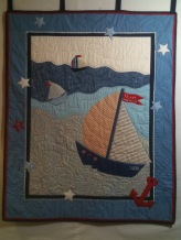 TWS quilt (2010). Dimensions unknown, but typical crib quilt size. NOT for sale!!