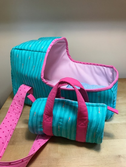 Doll bed and mini-duffle for Christmas gift 2016
