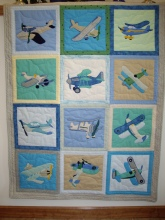 JGS quilt (2007)• Dimensions unknown, but typical crib quilt size. NOT for sale.