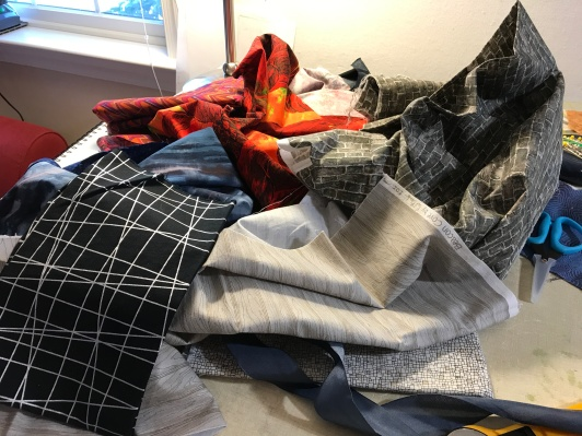 Pulling some fabrics for Face Down